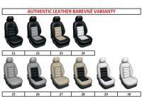 Autopoťahy 2 samostatná sedadla šité na mieru kože AUTHENTIC LEATHER