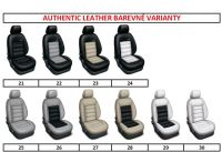 Autopoťahy 7 miestne, šité na mieru kože AUTHENTIC LEATHER