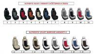 Autopoťahy 5 samostatných sedadiel šité na mieru kože s alcantarou AUTHENTIC VELVET
