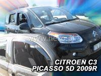 Plexi, ofuky Citroen C3 Picaso 5dv., od roku 2009r => sada 2ks přední HDT