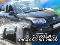 Plexi, ofuky Citroen C3 Picaso 5dv., od rou 2009r =>, přední + zadní sada 4ks HDT