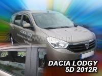 Plexi, ofuky bočních skel Dacia Lodgy 5D 2012 =>, + zadní HDT
