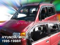 Plexi, ofuky Daihatsu Move 5D 95--98R + zadní HDT