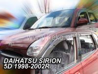 Plexi, ofuky Daihatsu Sirion 5D 98--02R přední HDT