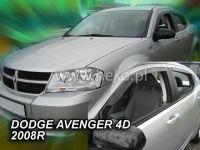 Plexi, ofuky Dodge Avanger 4D 2008 =>, přední + zadní HDT