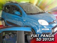 Plexi, ofuky bočních skel FIAT Panda III 5D, 2.2012 =>, přední + zadní HDT