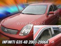 Plexi, ofuky Infiniti G35 4D 2003-2006r, přední HDT