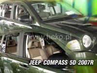 Plexi, ofuky JEEP Compass 5D 2007 =>, přední + zadní HDT