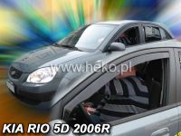 Plexi, ofuky KIA Rio, 5D, 2005 =>, přední HDT