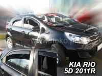 Plexi, ofuky KIA Rio htb, 5D 2011 =>, přední + zadní HDT