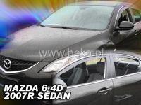 Plexi, ofuky MAZDA 6 sedan, 4D, 2007 =>, přední + zadní HDT