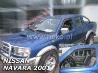 Plexi, ofuky bočních skel NISSAN Navara Pick Up 4D 2001-2005 HDT