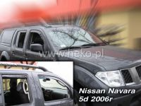 Plexi, ofuky NISSAN Navara Pick Up 4D 2005 => HDT