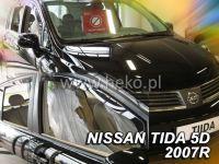 Plexi, ofuky bočních skel NISSAN Tida hatchback, 4D 2007 =>, přední + zadní HDT