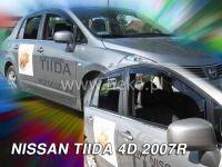 Plexi, ofuky bočních skel NISSAN Tida sedan, 4D 2007 => přední + zadní HDT