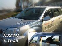 Plexi, ofuky bočních skel NISSAN X-Trail, 5D 2001 =>, přední + zadní HDT