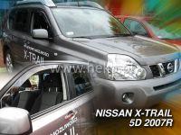Plexi, ofuky bočních skel NISSAN X-Trail, 5D 2007 => přední + zadní HDT