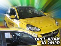 Protiprůvanové plexi, Opel Adam 3D 2013r =>, 2ks predné