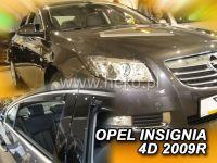 Plexi, ofuky OPEL Insignia 4D, 2009 =>, přední + zadní HDT