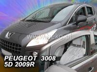 Plexi, ofuky PEUGEOT 3008, 5D, 2009 =>, přední HDT