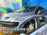Plexi, ofuky PEUGEOT 308, 5D, 2007 =>, přední HDT