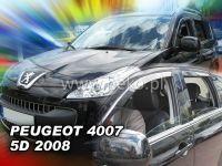 Plexi, ofuky PEUGEOT 4007, 5D, 2008 =>, přední HDT