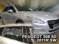 Plexi, ofuky PEUGEOT 508 SW, 4D, 2011 =>, přední + zadní HDT