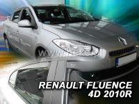 Plexi, ofuky bočních skel RENAULT Fluence 4D, 2010 =>, přední + zadní HDT