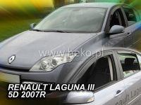 Plexi, ofuky bočních skel RENAULT Laguna III 5D, 2007 =>, přední + zadní HDT