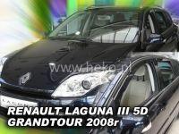 Plexi, ofuky bočních skel RENAULT Laguna grandtour III 5D, 2007 =>, přední + zadní HDT