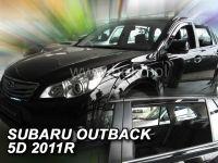 Plexi, ofuky bočních skel SUBARU Outback 5D, 2011 =>, přední + zadní HDT