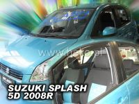 Plexi, ofuky bočních skel SUZUKI Splash 5D, 2008 =>, přední + zadní HDT