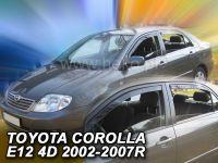 Plexi, ofuky Toyota Corolla 4/5D 2002-2007 sedan, přední + zadní HDT