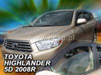 Plexi, ofuky Toyota Highlander 2007 USA přední HDT