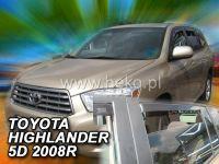 Plexi, ofuky Toyota Highlander 2007 USA přední + zadní HDT