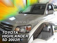 Plexi, ofuky Toyota Highlander 2001-2007, USA přední HDT