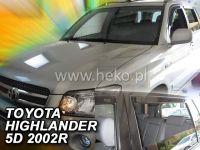 Plexi, ofuky Toyota Highlander 2001-2007 USA, přední + zadní HDT