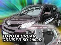 Plexi, ofuky bočních skel TOYOTA Urban Cruiser 5D, 2009r, přední + zadní HDT