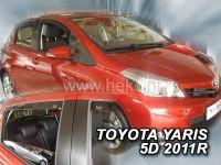 Plexi, ofuky bočních skel TOYOTA Yaris 5D, 9/2011r, přední + zadní HDT