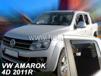 Plexi, ofuky bočních skel VW Amarok 4D 2011=>, přední + zadní HDT