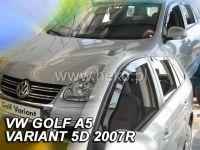 Plexi, ofuky bočních skel VW Golf V Acombi, 5D 2007-2009, přední + zadní HDT