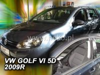 Plexi, ofuky VW Golf VI, 5D 2008 =>, sada 2ks přední HDT