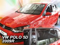 Plexi, ofuky bočních skel VW Polo 5D 2009, přední + zadní HDT