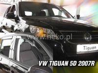 Plexi, ofuky bočních skel VW Tiguan 5D 2008, přední + zadní HDT