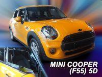 Protiprůvanové plexi, Mini Cooper - One (F55) 5D 2014r =>, 2ks predné