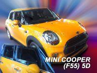 Protiprůvanové plexi, Mini Cooper - One (F55) 5D 2014r =>, 4ks přední+zadní
