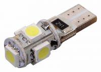 Vysocesvítivé čipové SMD LED diod, Žárovka 5 SMD LED 12V T10 Vyrobeno v EU