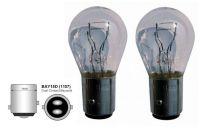Dvouvláknové žárovky 12V 21W bílá sklo, 2ks
