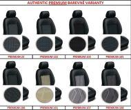Autopoťahy 5 samostatných sedadiel šité na mieru čalúnické AUTHENTIC PREMIUM
