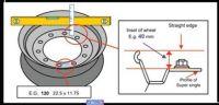 "Predné poklice nerez kolies, kryty kolies, Super Single liner pro disky 22,5""(balóny) s offsetem 30mm, 1ks Vyrobeno v EU"